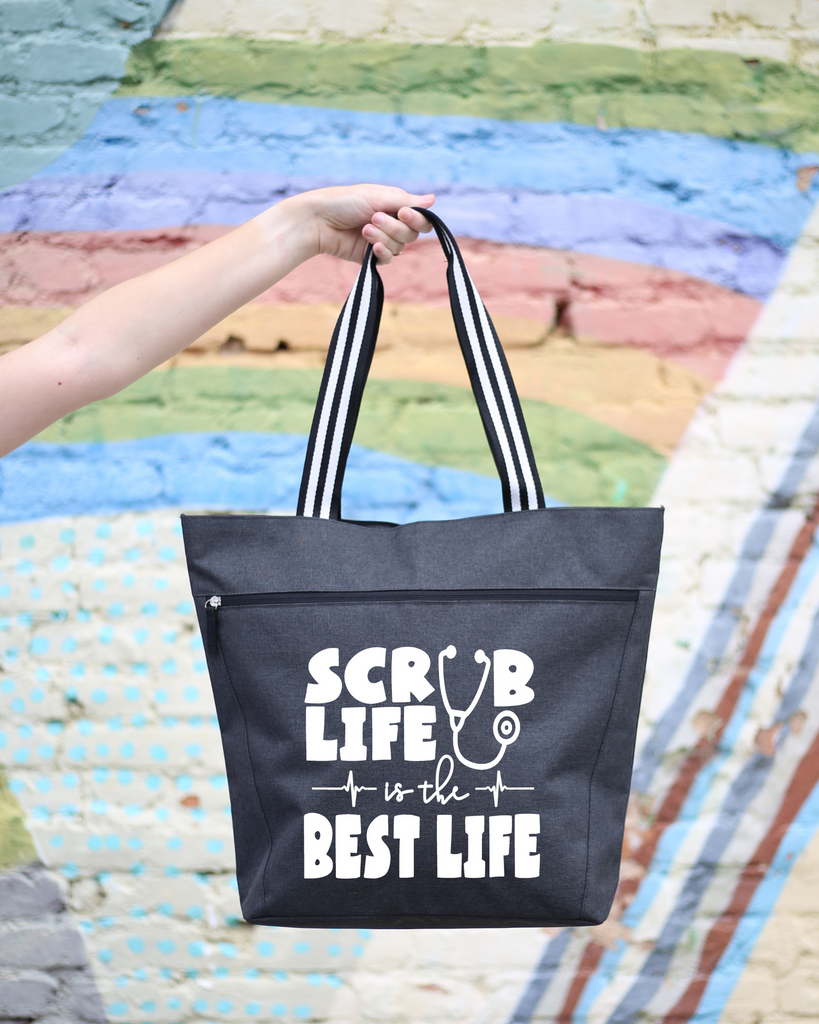 Scrub Life is the Best Life Lexie Black Tote Bag