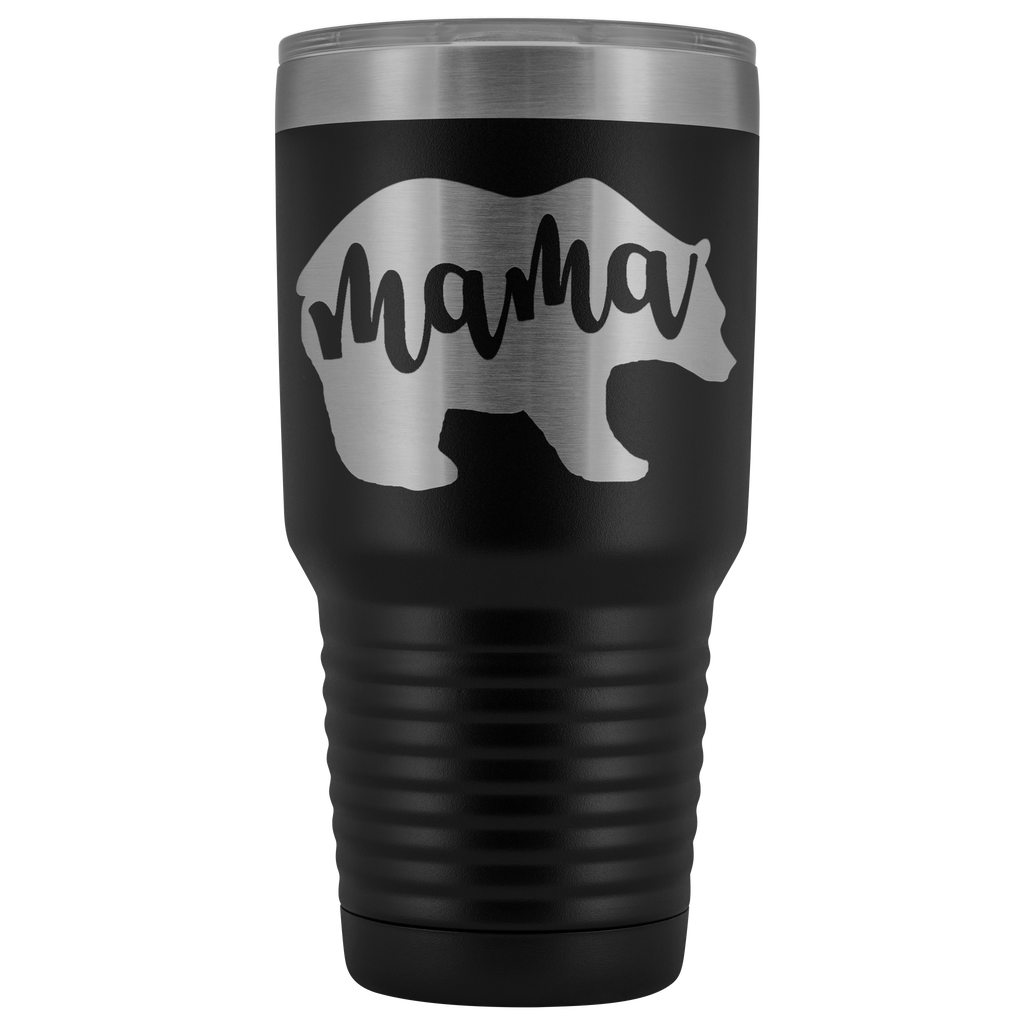 Custom-Designed Mama Bear 30 oz Vacuum Tumbler - Bear Family Collection