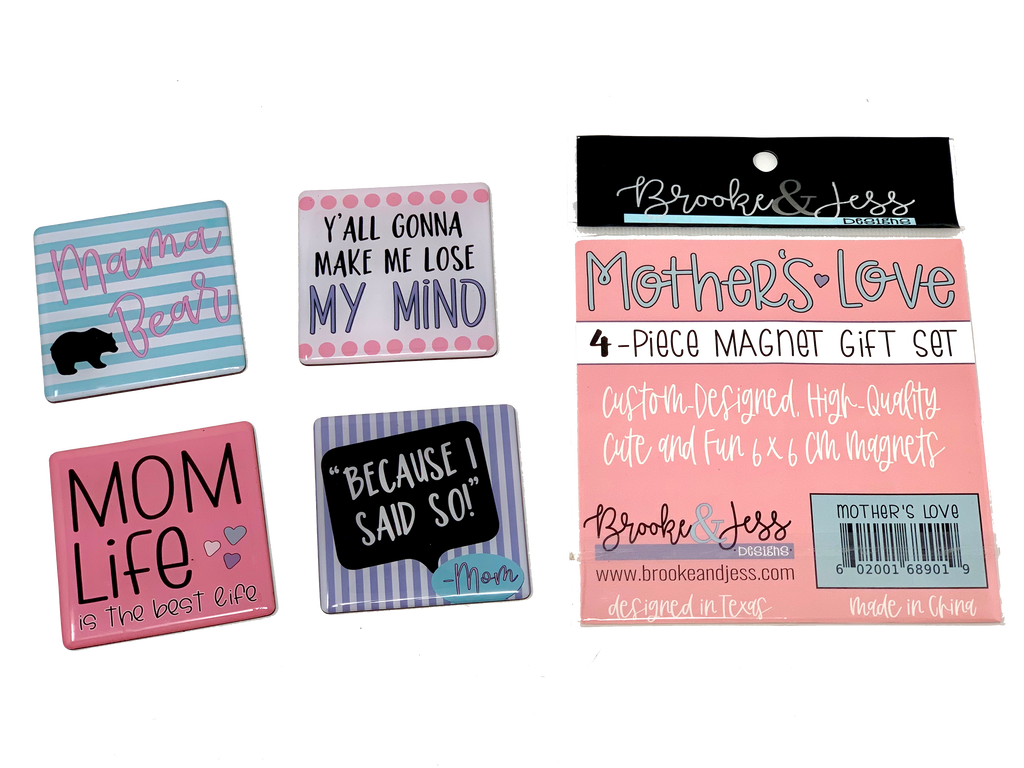Cute Magnet Gift Set for Mom - 4 pack gift set