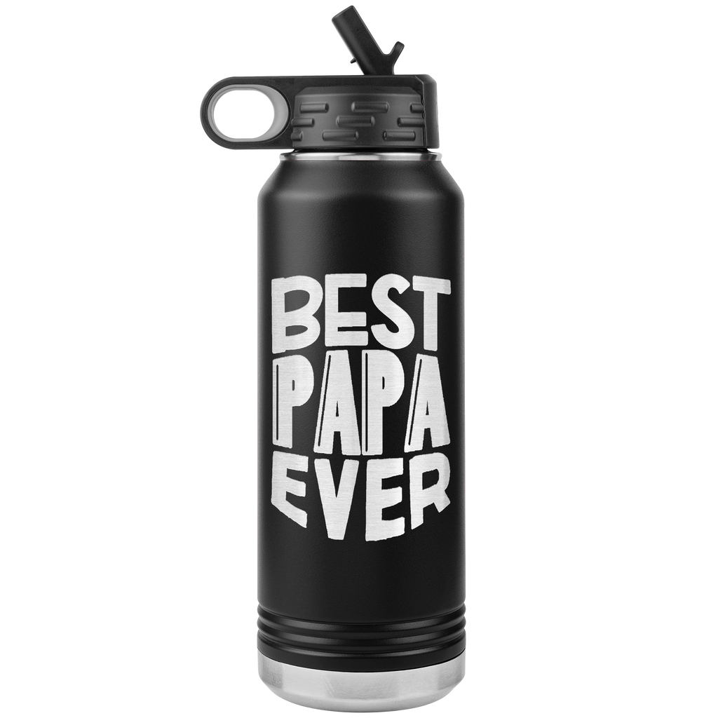 Best Papa Ever- 32oz Stainless Steel Water Bottle for Dad,Grandpa