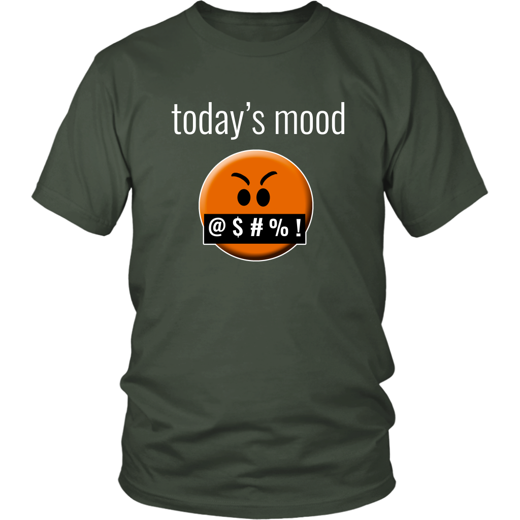"Funny ""Today's Mood"" Cursing Emoji Face Tshirt - Quarantine"