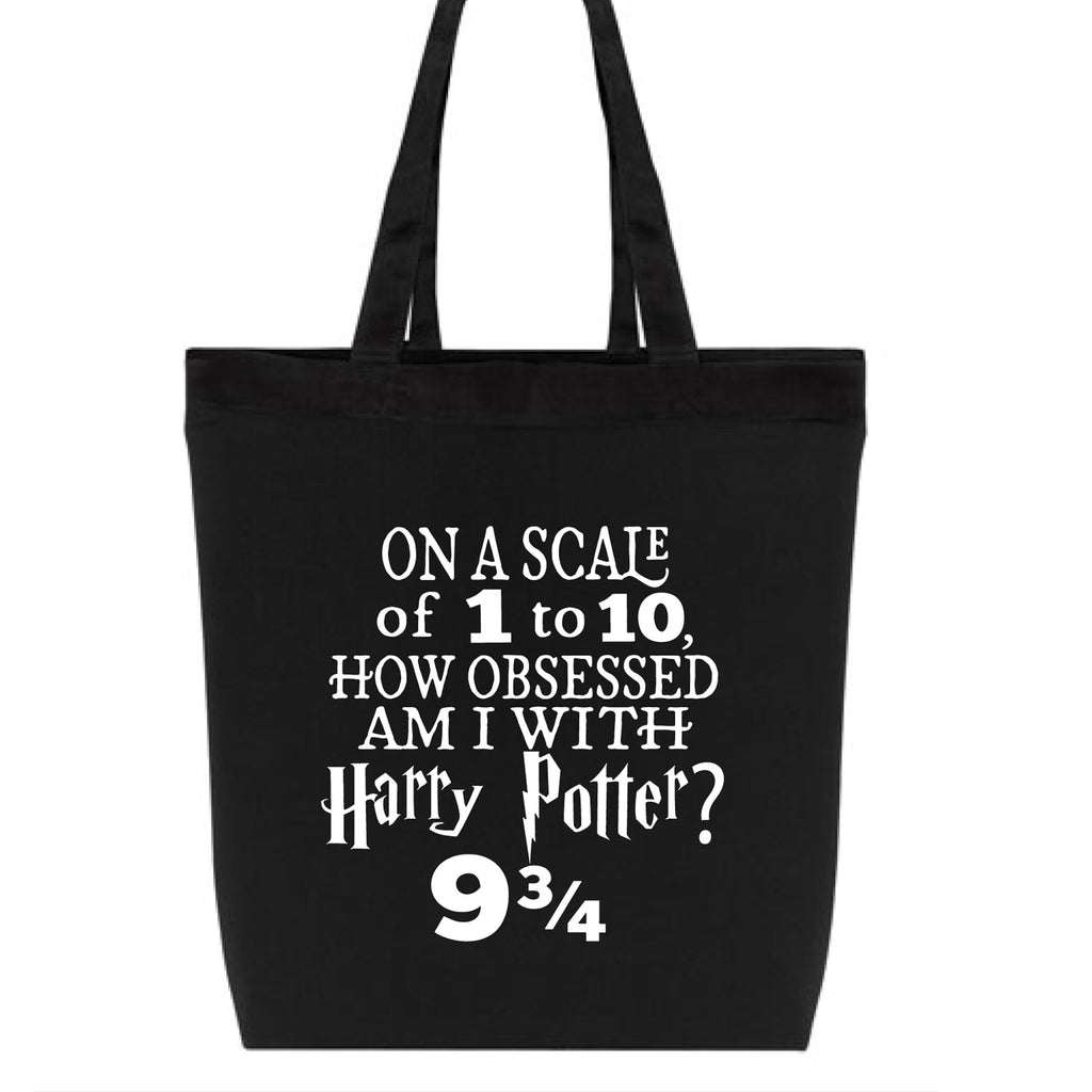 Harry Potter Obsessed Lightweight Canvas Black Tote Bag