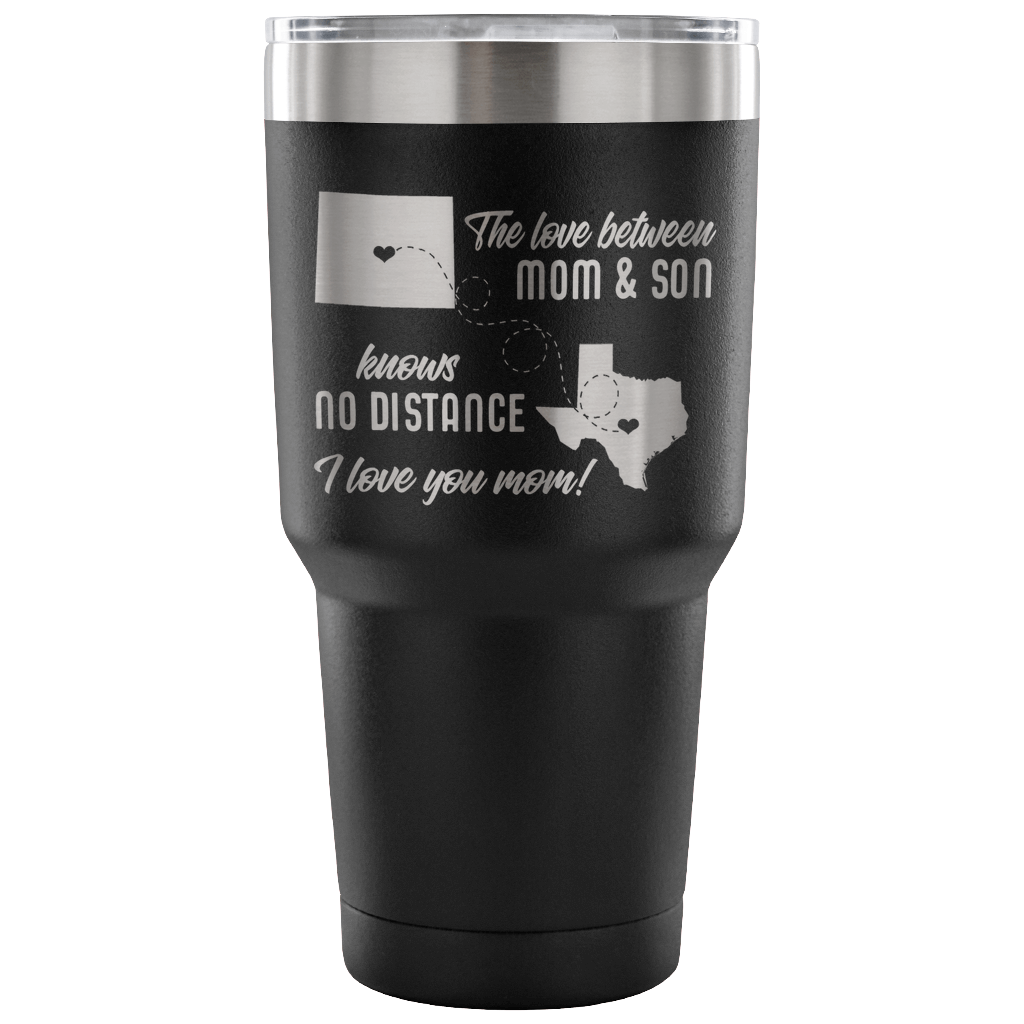 The Love Between a Mom & Son Knows No Distance - Stainless Steel 30 ounce Vacuum Tumbler