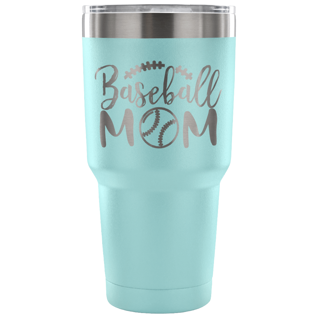 Baseball Mom - Stainless Steel 30 ounce Vacuum Tumbler -