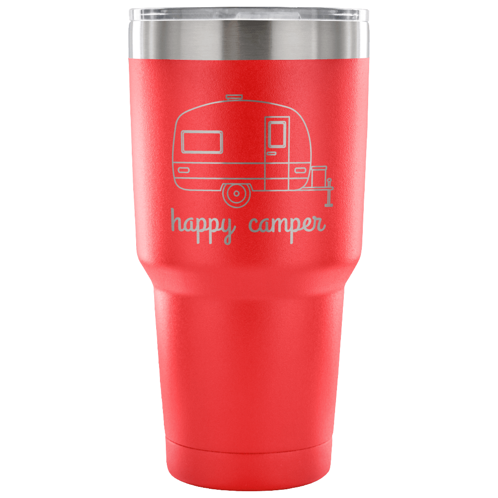 Stainless Steel 30 ounce Vacuum Tumbler - Happy Camper