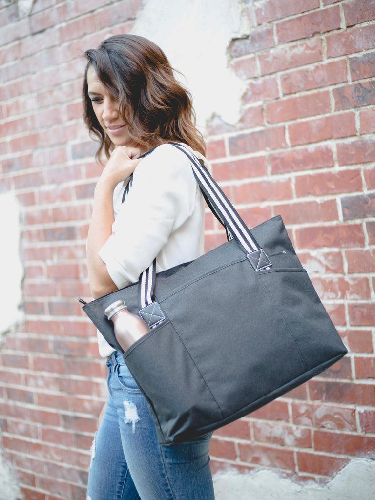 Black Tessa Tote Bag