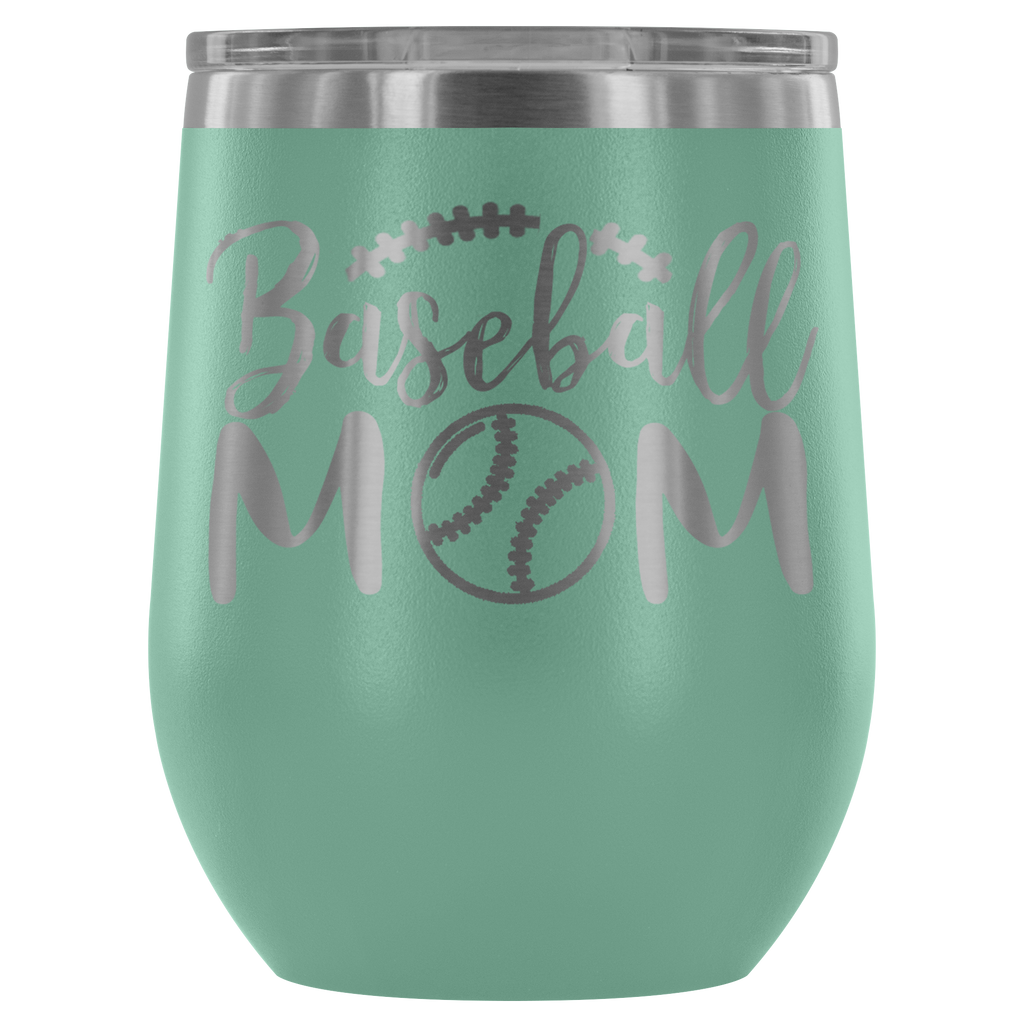 Stainless Steel 12 ounce Vacuum Tumbler - Baseball Mom