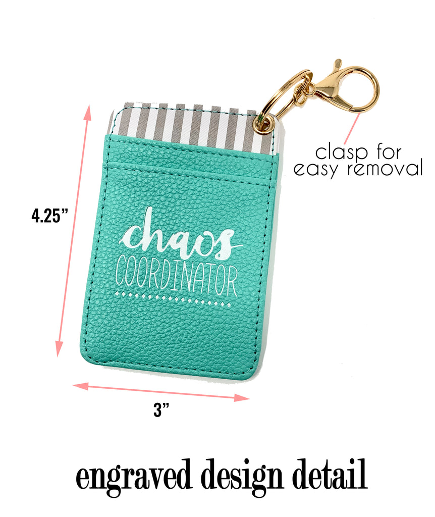Chaos Coordinator Teal Silicone Bracelet Keychain Wallet