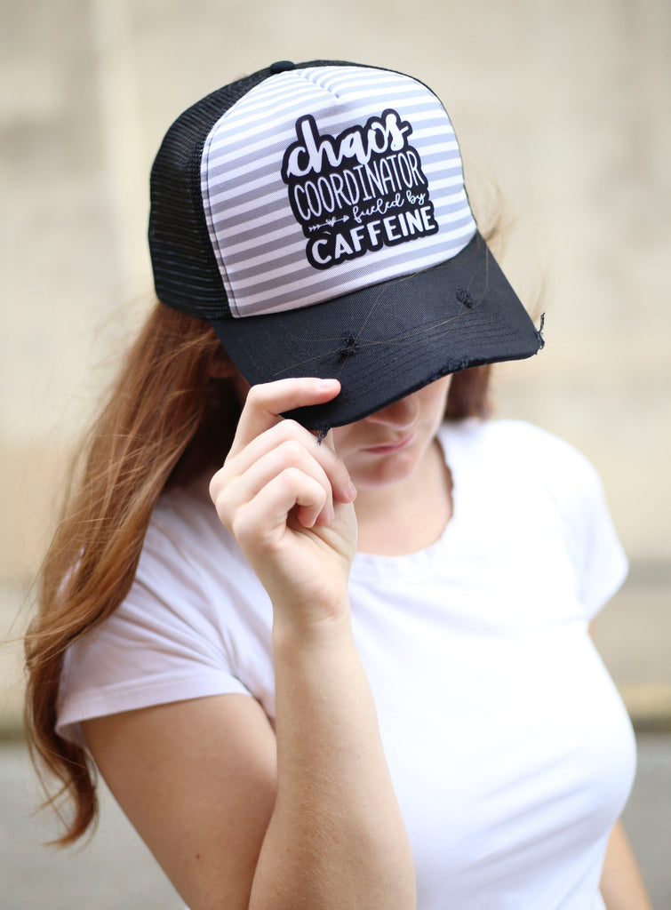Chaos Coordinator Fueled by Caffeine Trucker Hat