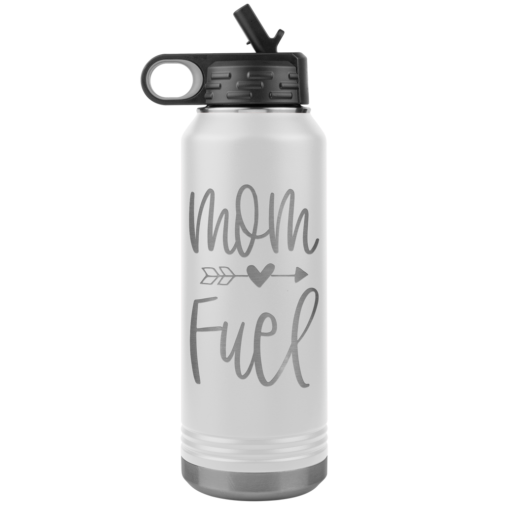 Mom Fuel - 32oz Stainless Steel Water Bottle Perfect Gift for Moms, and Mothers