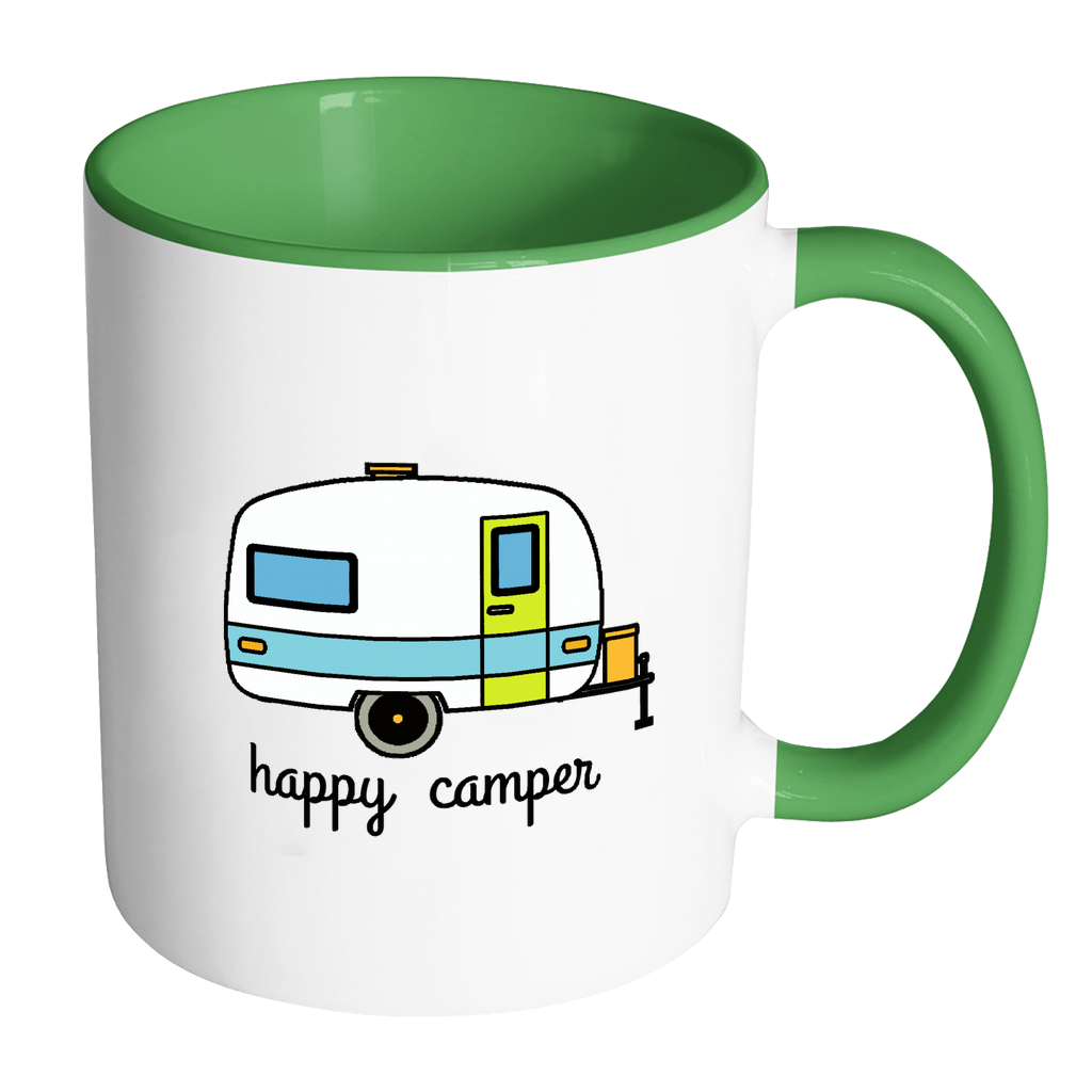 Happy Camper Coffee Mug - perfect gift for Outdoor Lovers