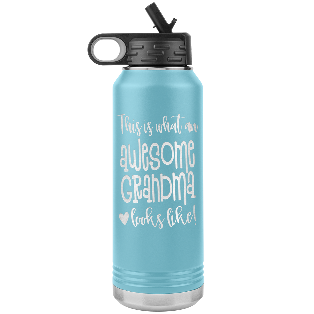 Awesome Grandma - 32oz Stainless Steel Water Bottle for Nana, Grandma, Grandmothers