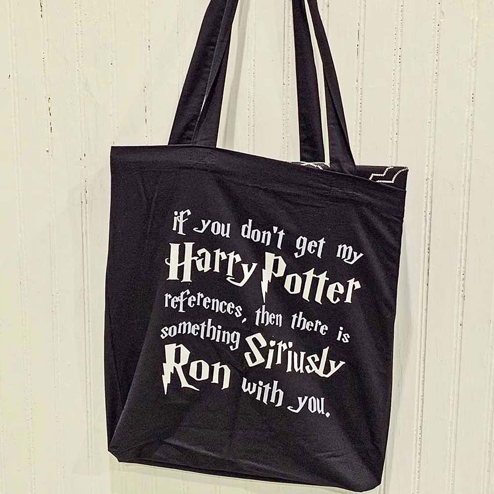 Harry Potter Siriusly Ron Lightweight Canvas Black Tote Bag