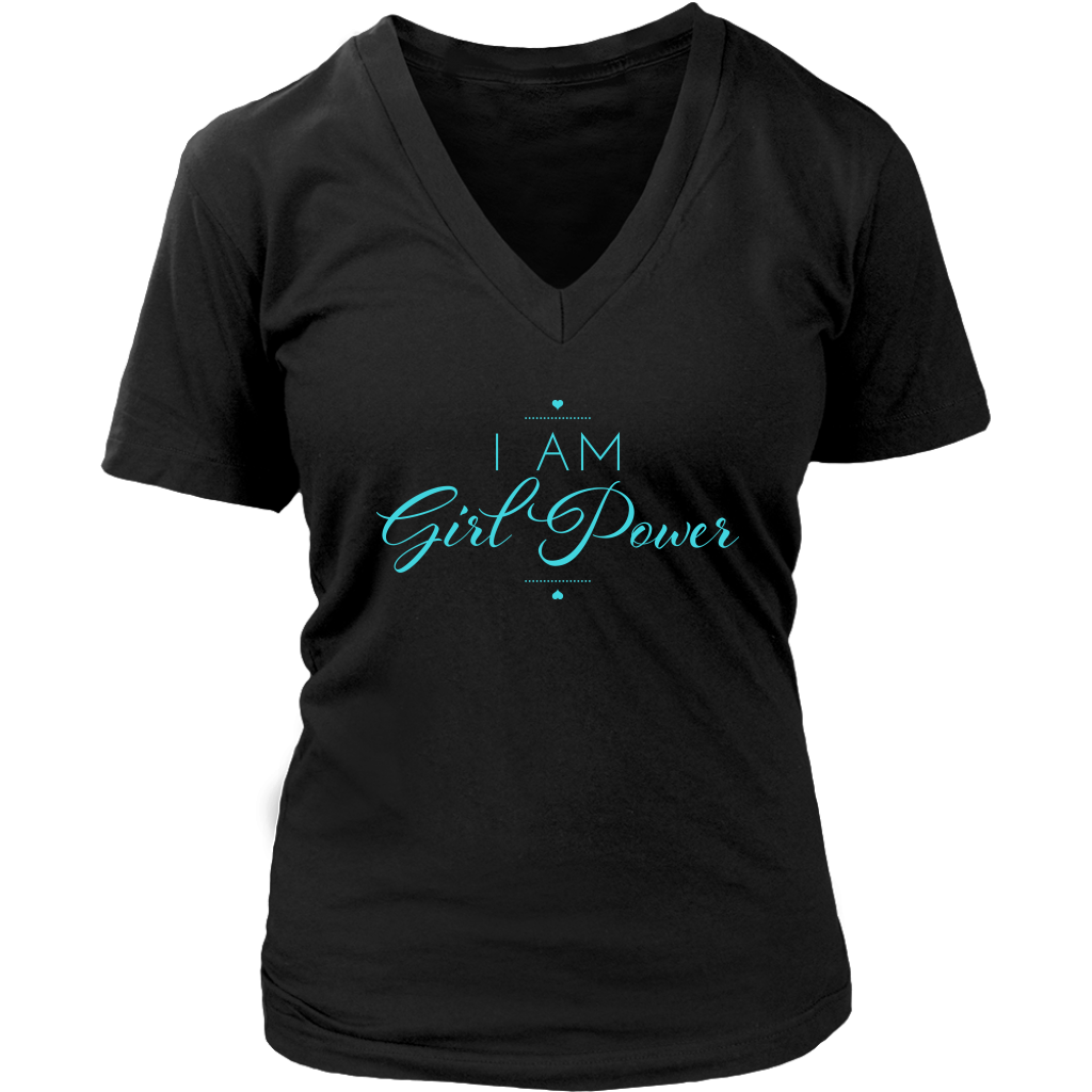 Author Katie Cross - I Am Girl Power V-Neck Tshirt