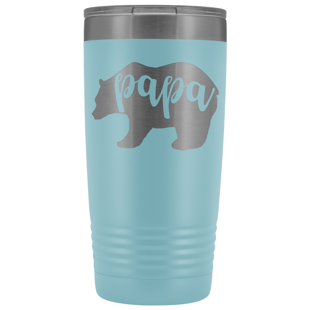 Custom-Designed Papa Bear 20 oz Vacuum Tumbler - Bear Family Collection