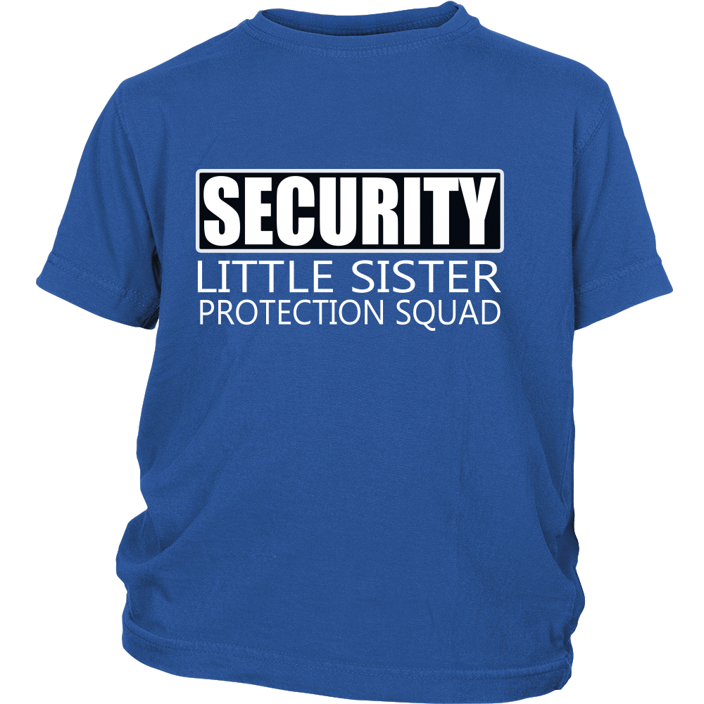 Funny Big Brother Youth T-shirt - Security Little Sister Protection Squad - Big Bro