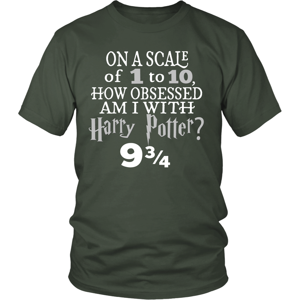 Obsessed 9 3/4 Quote - Funny Harry Potter Inspired Unisex T-shirt