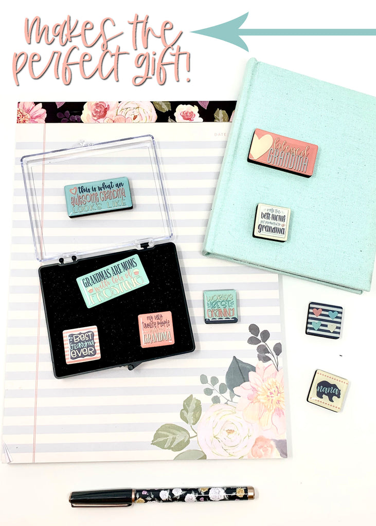 """Grandma Love"" Magnet Gift Set 9 Peices with Gift Box"