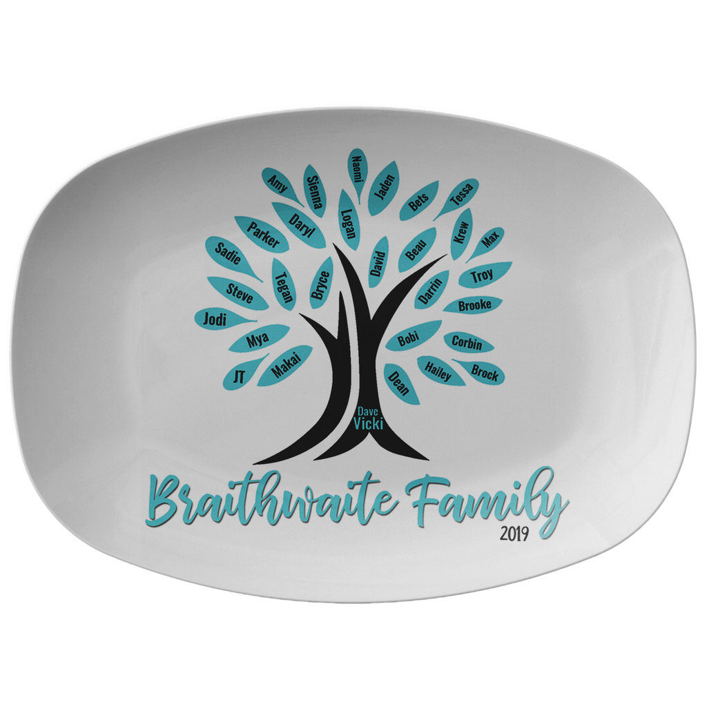 Custom-Designed and Personalized Family Tree Platter