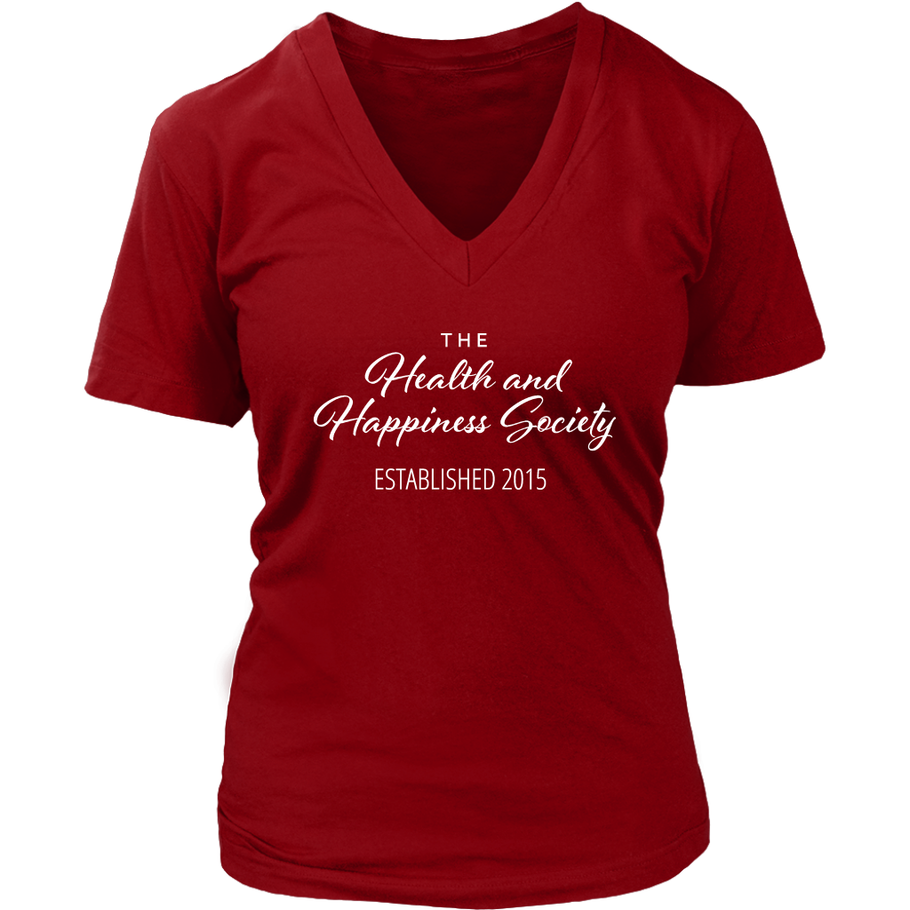 Author Katie Cross - The Health And Happiness Society V-Neck Women's Shirt