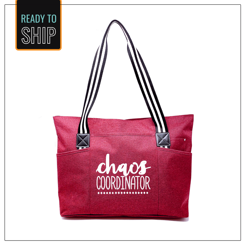 Chaos Coordinator Red Tessa Tote Bag
