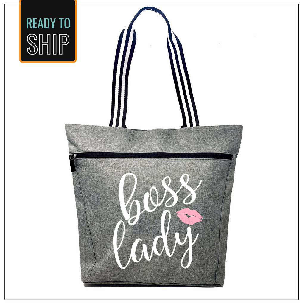 Boss Lady Lexie Gray Tote Bag