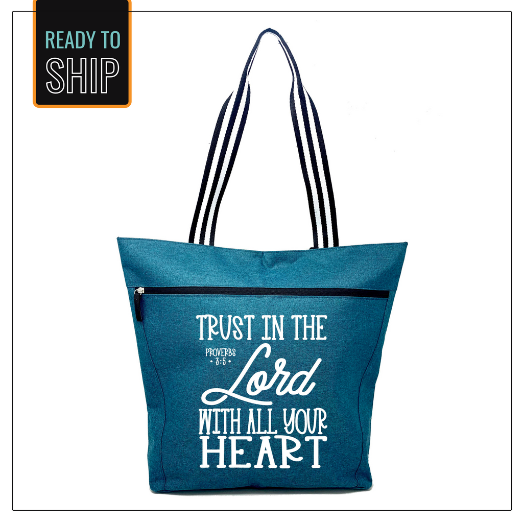 Trust in Lord Lexie Teal Tote Bag