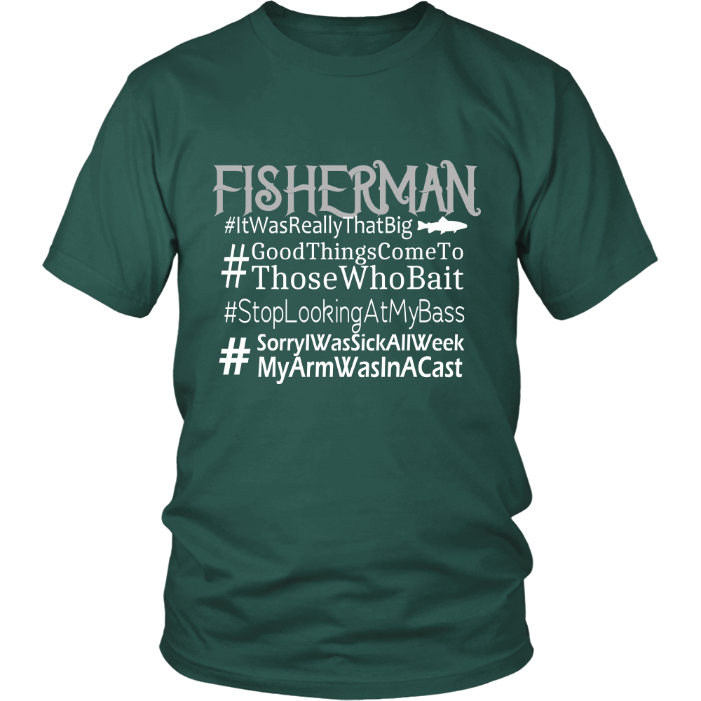 Funny Sayings Fisherman Hashtag Shirt - Great gift