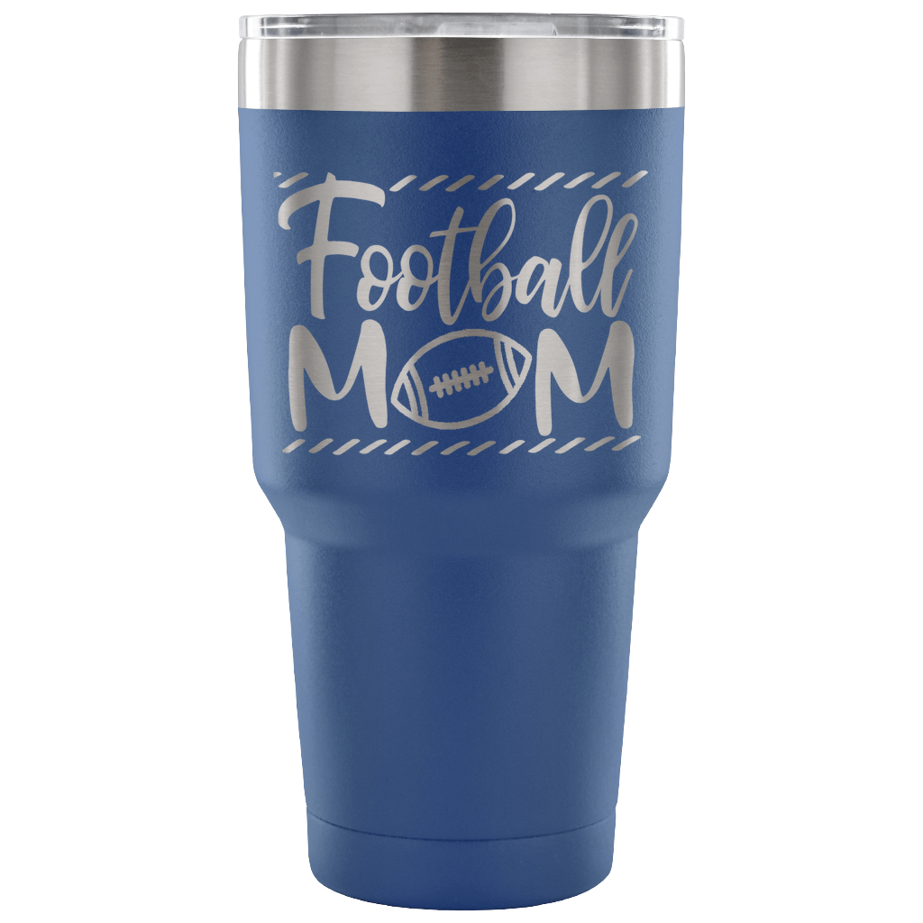 Stainless Steel 30 ounce Vacuum Tumbler - Football Mom