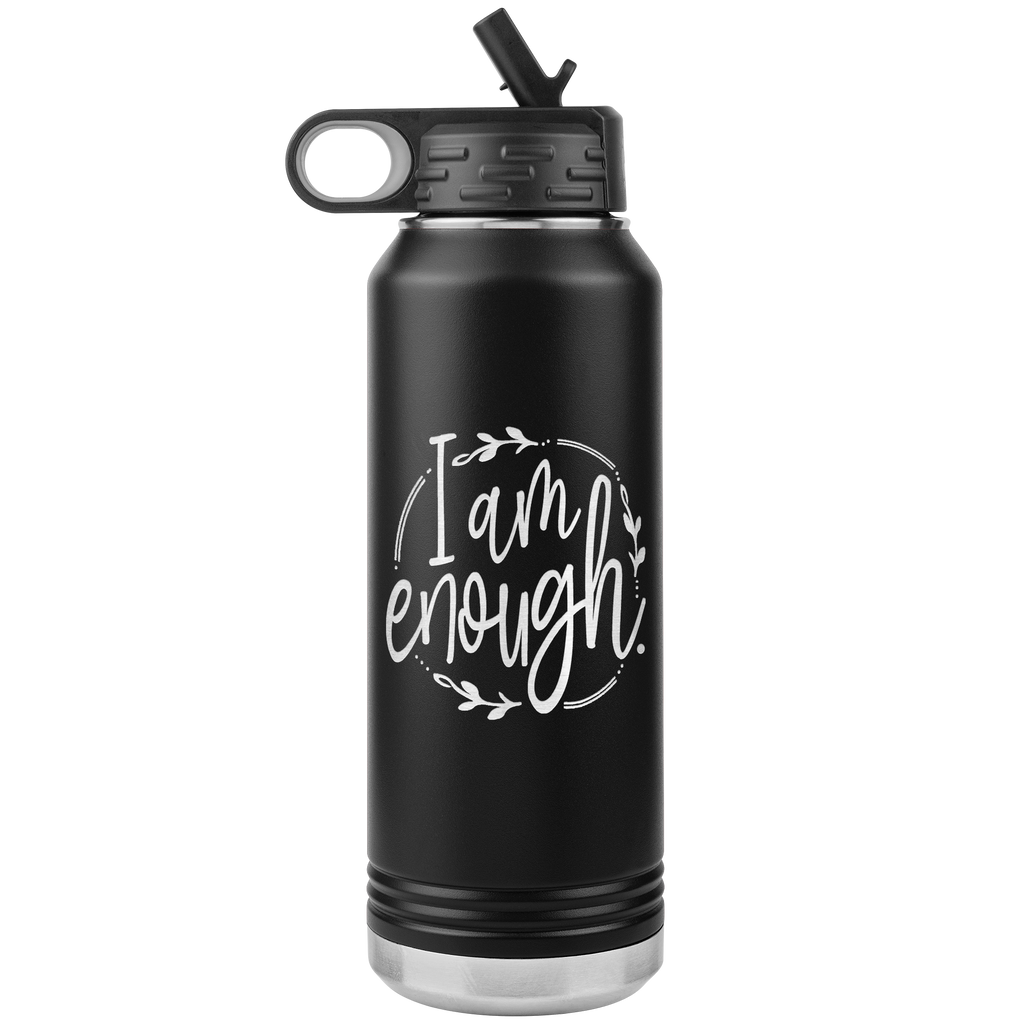 I Am Enough - 32oz Stainless Steel Water Bottle for Religious Christian Women