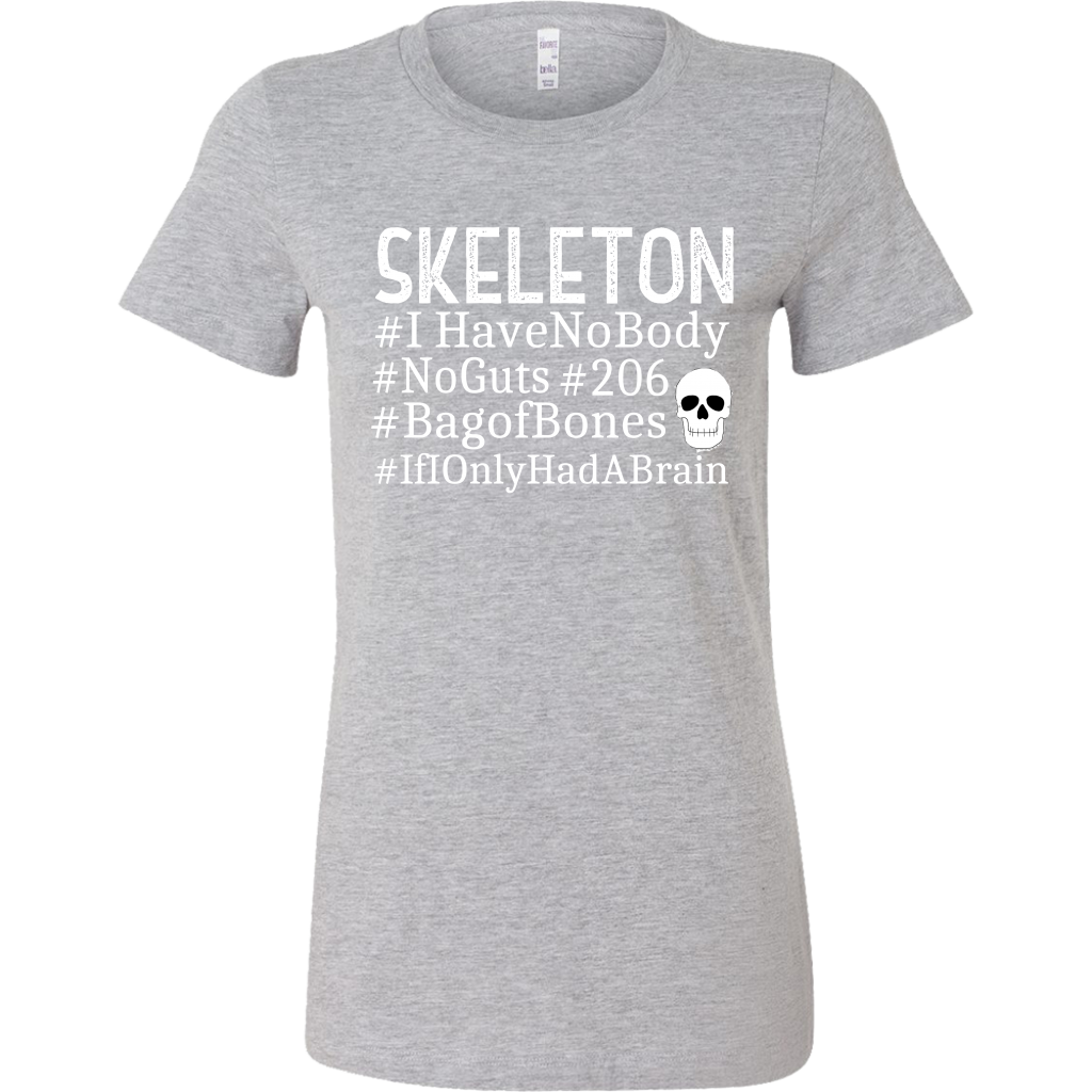 Funny Halloween Tshirt - Skeleton Hashtag - If I only had a brain