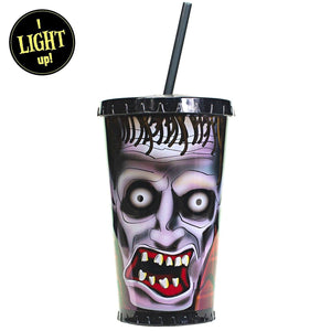 Zombie Light Up Tumbler With Straw