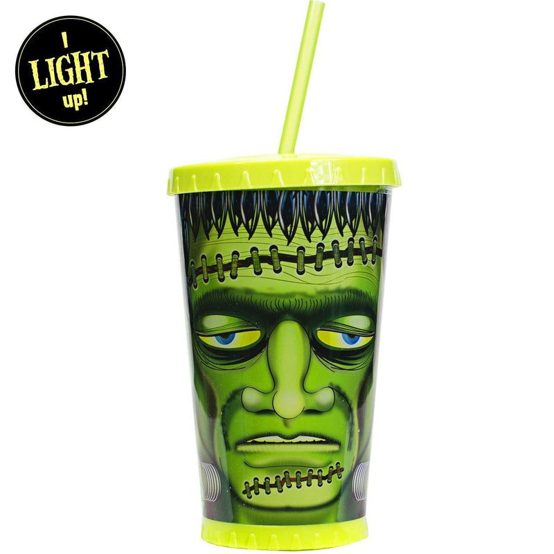 Frankenstein Light Up Tumbler With Straw