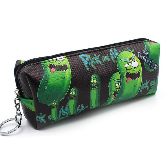 Rick & Morty Pickle Rick Pu Leather Makeup Cosmetics Bag