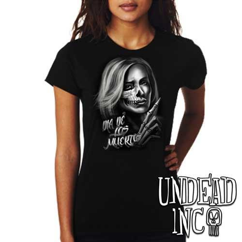 Beautiful Death - Day of the Dead  - Ladies T Shirt - Undead Inc Ladies T-shirts,