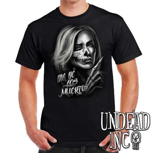 Beautiful Death - Day of the Dead  - Mens T Shirt - Undead Inc Mens T-shirts,
