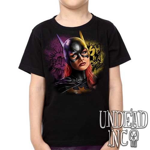 Dc Comics Batman BATGIRL - Kids Unisex Girls and Boys T shirt Clothing - Undead Inc Kids T-shirts,