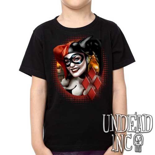 Dc Comics Batman Harley Quinn - Kids Unisex Girls and Boys T shirt Clothing - Undead Inc Kids T-shirts,