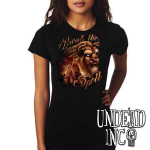 "Beauty & the Beast ""Break the Spell"" - Ladies T Shirt - Undead Inc Ladies T-shirts,"