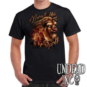 "Beauty & the Beast ""Break the Spell"" - Mens T Shirt - Undead Inc Mens T-shirts,"