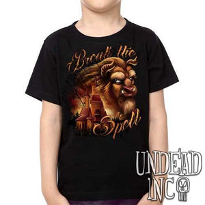 "Beauty & the Beast ""Break the Spell"" Castle - Kids Unisex Girls and Boys T shirt Clothing - Undead Inc Kids T-shirts,"