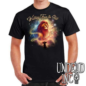 "Lion King Mufasa ""Watching from the Stars""   - Mens T Shirt"