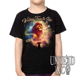 "Lion King Mufasa ""Watching from the Stars"" -  Kids Unisex Girls and Boys T shirt Clothing"