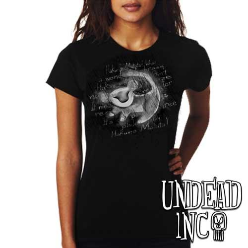Simba Painting - Ladies T Shirt BLACK GREY Ladies T-shirts Undead Inc