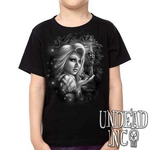 Tangled - Pascal Rapunzel Black Grey - Kids Unisex Girls and Boys T shirt Clothing