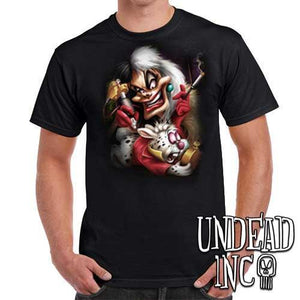 Villains Cruella De Vil Tattooing White Rabbit - Mens T Shirt