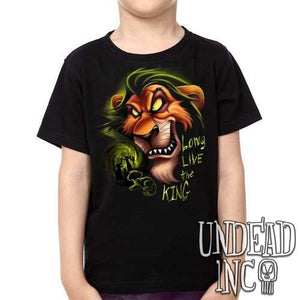 "Villains Scar ""Long live the king"" Lion King - Kids Unisex Girls and Boys T shirt Clothing"