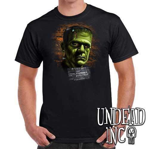 Frankenstein Mugshot - Mens T Shirt - Undead Inc Mens T-shirts,