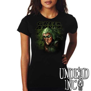 Green Arrow- Ladies T Shirt - Undead Inc Ladies T-shirts,