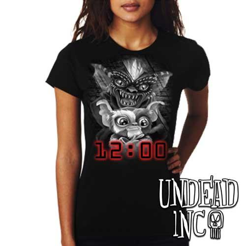 Gremlins - Ladies T Shirt BLACK GREY - Undead Inc Ladies T-shirts,